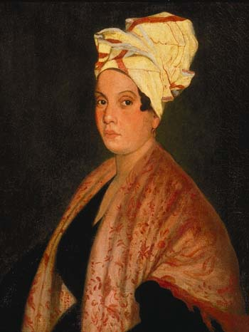 Marie Laveau hangs in the Cabildo Museum